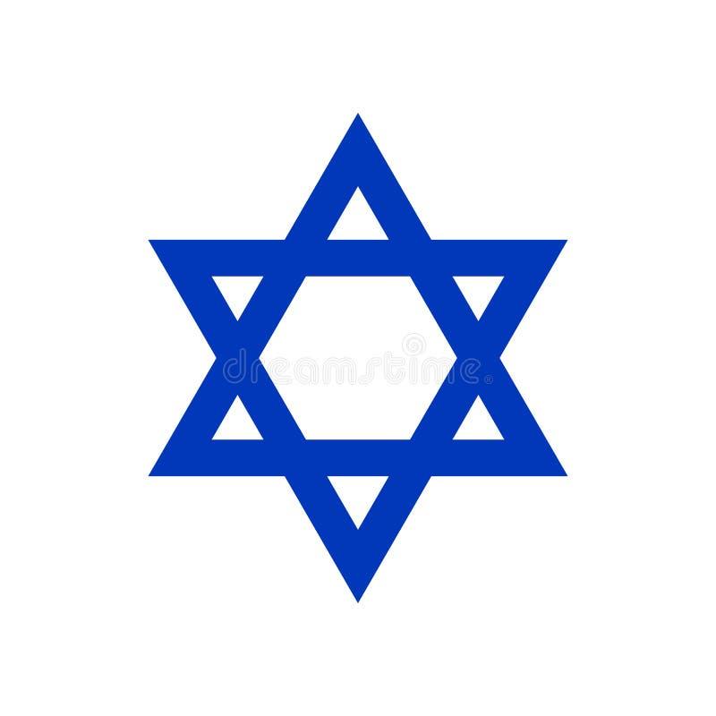 Étoile de David, icône illustration libre de droits