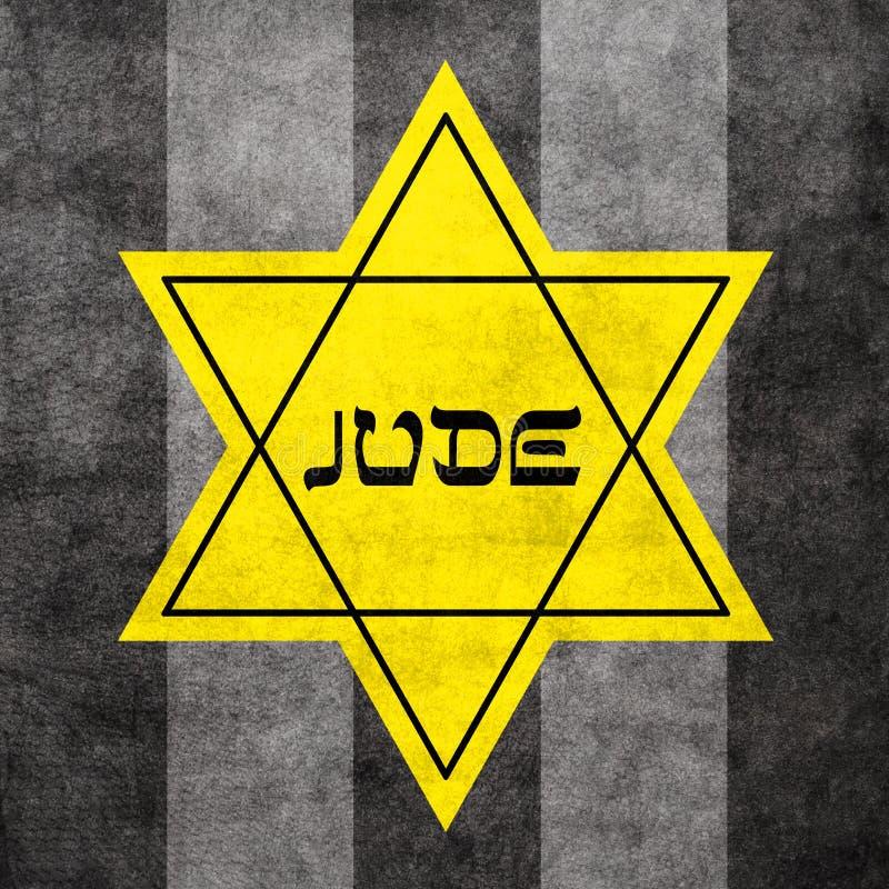 Étoile de David jaune illustration de vecteur