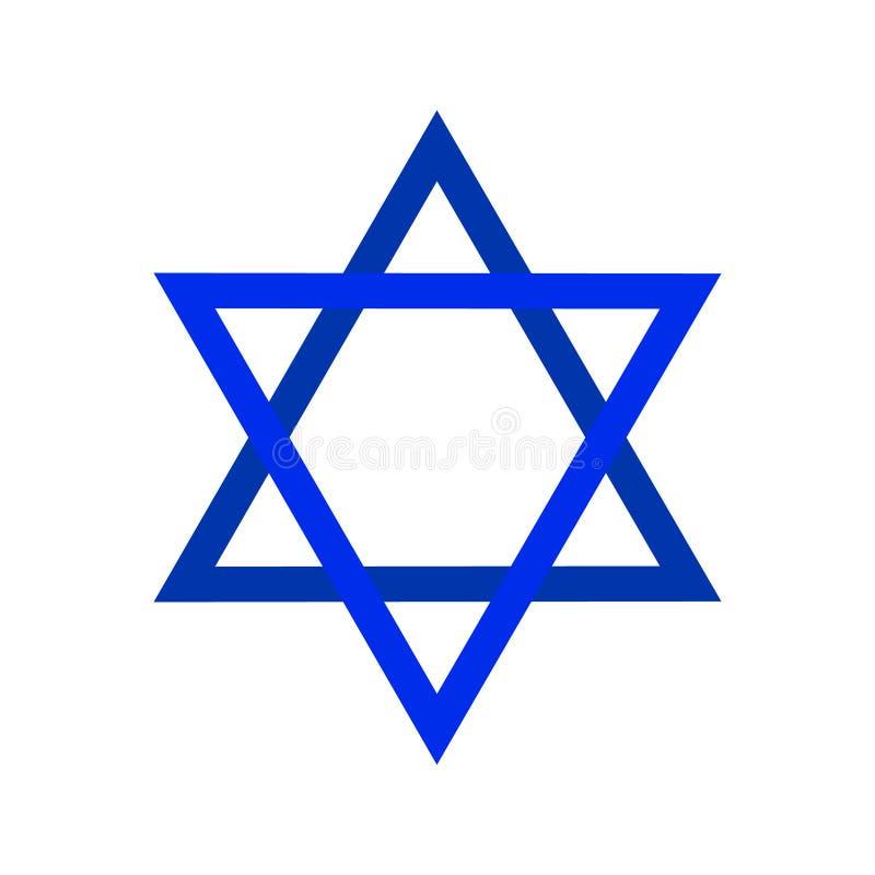 Étoile de David sacrée de symbole Bouclier de David Illustration de Magen, icône illustration libre de droits