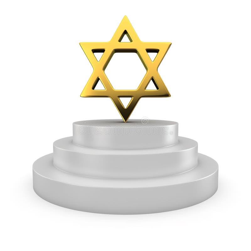 Étoile de David sur le podium illustration libre de droits