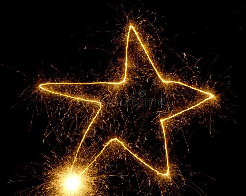 Étoile de dessin de cierge magique photo stock