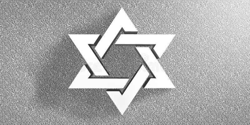 Étoile de fond de David Jewish illustration de vecteur
