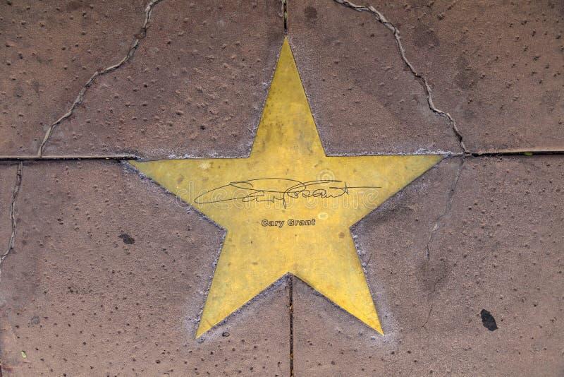 Étoile de Garry Grant sur le trottoir photographie stock