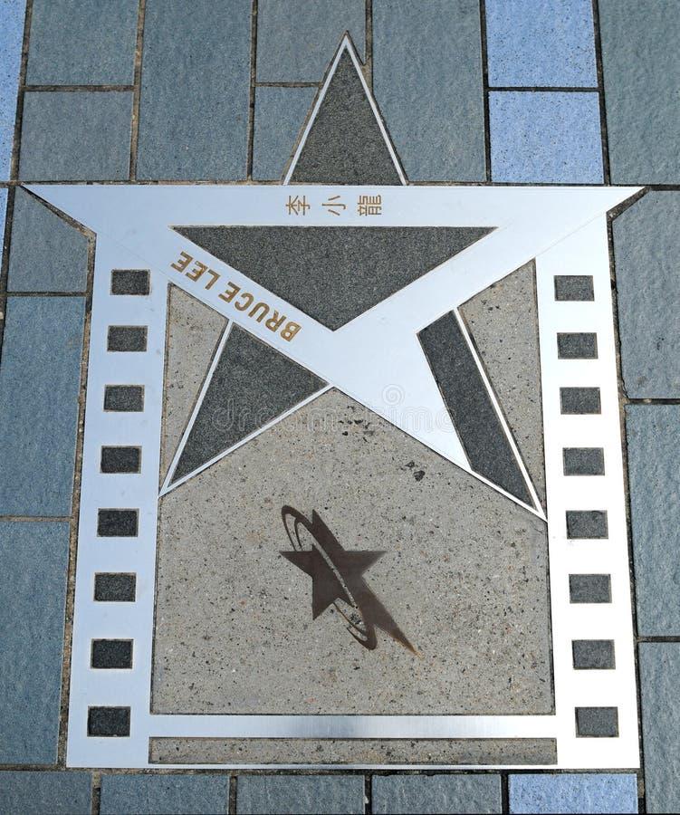 Étoile de Hong Kong Bruce Lee photographie stock libre de droits