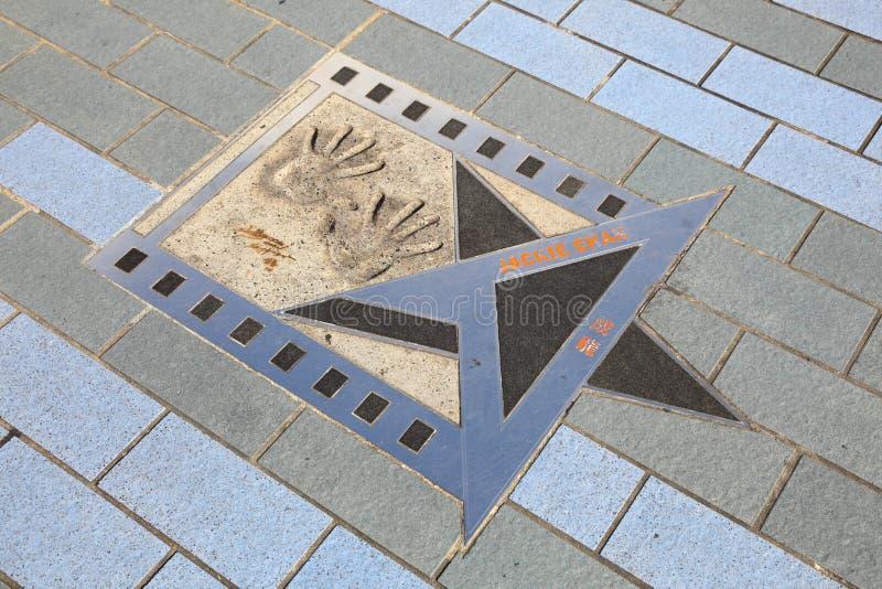 Étoile de Jackie Chan, Hong Kong photos libres de droits