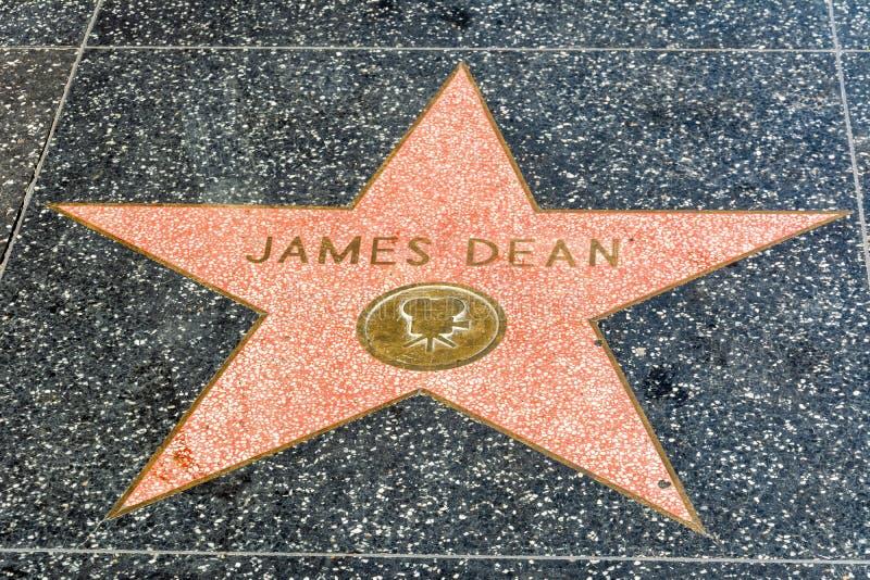 Étoile de James Dean sur la promenade de Hollywood de la renommée à Los Angeles, CA images stock