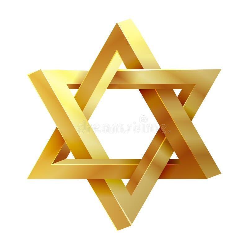 Étoile de judaïsme Joint d'icône de vecteur de Solomon illustration de vecteur