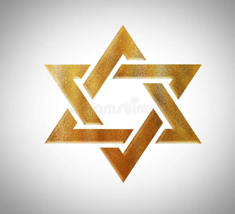 Étoile de juif jaune de David Gold illustration stock