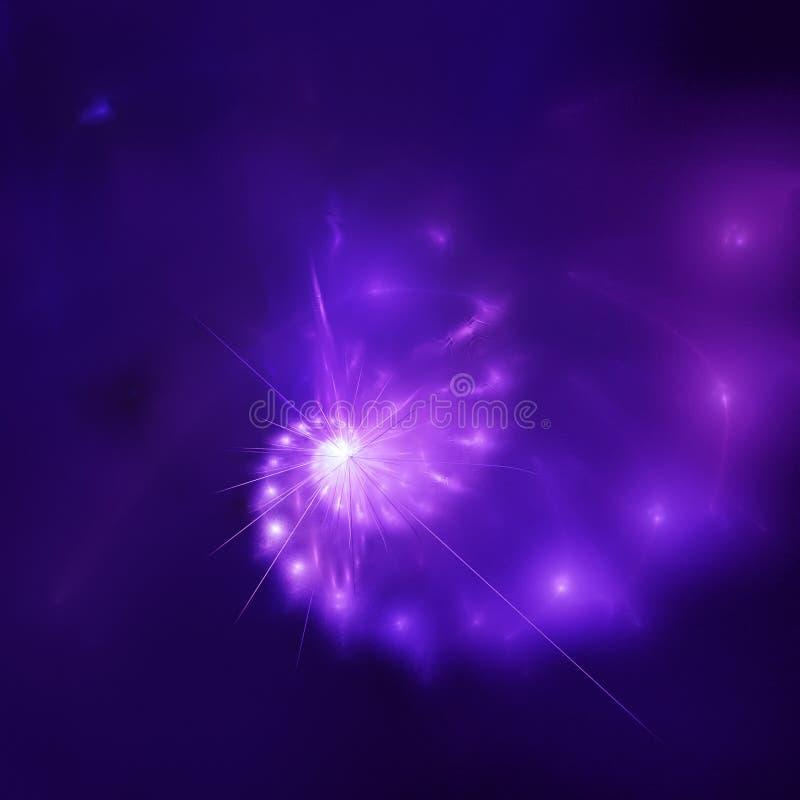 Étoile de l'espace illustration stock
