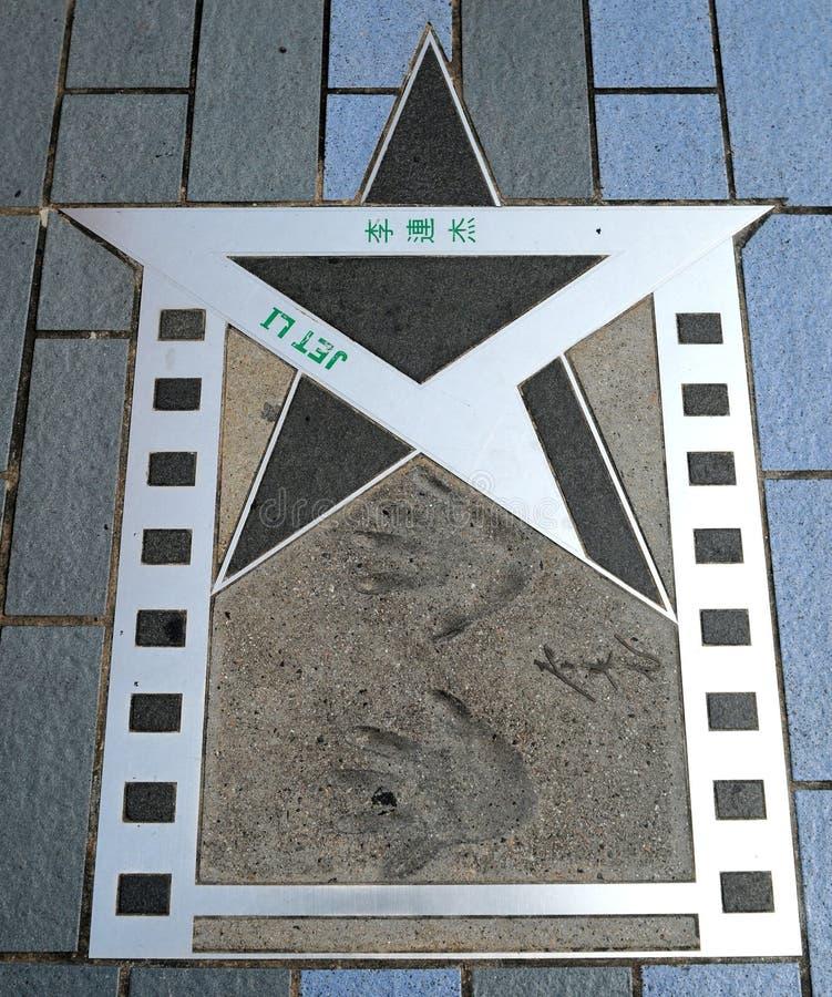 Étoile de Lee d'avion à réaction de Hong Kong photographie stock libre de droits
