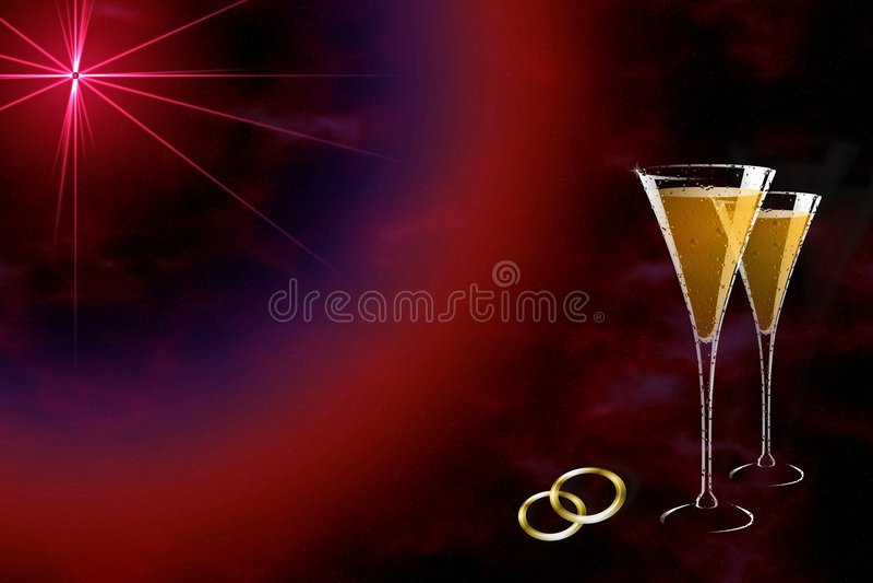Étoile de mariage illustration libre de droits