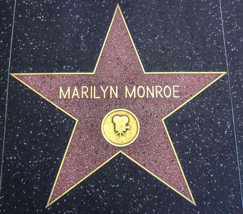Étoile de Marilyn Monroe sur la promenade de la renommée photo stock