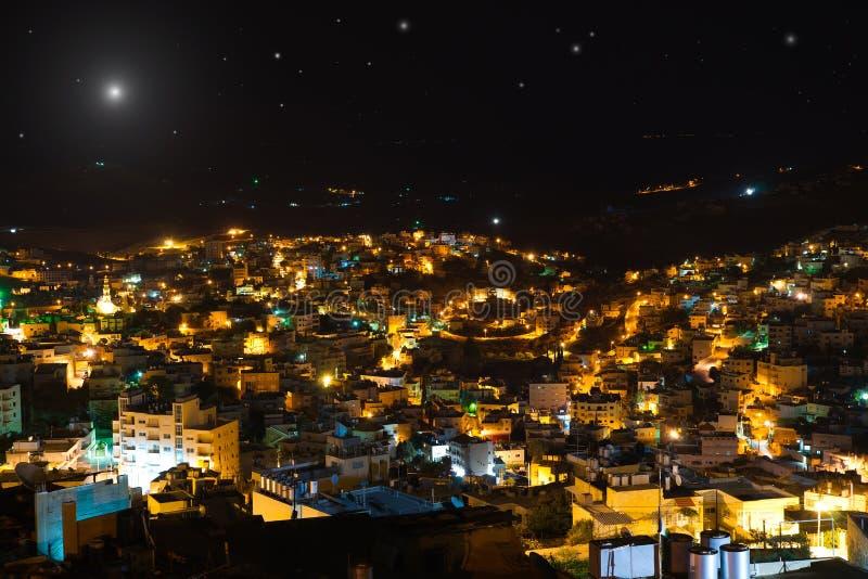 Étoile de Noël au-dessus de Bethlehem, Palestine, Israël image stock