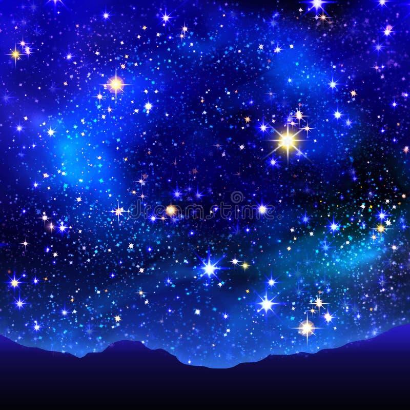 Étoile de Noël dans le ciel nocturne illustration stock