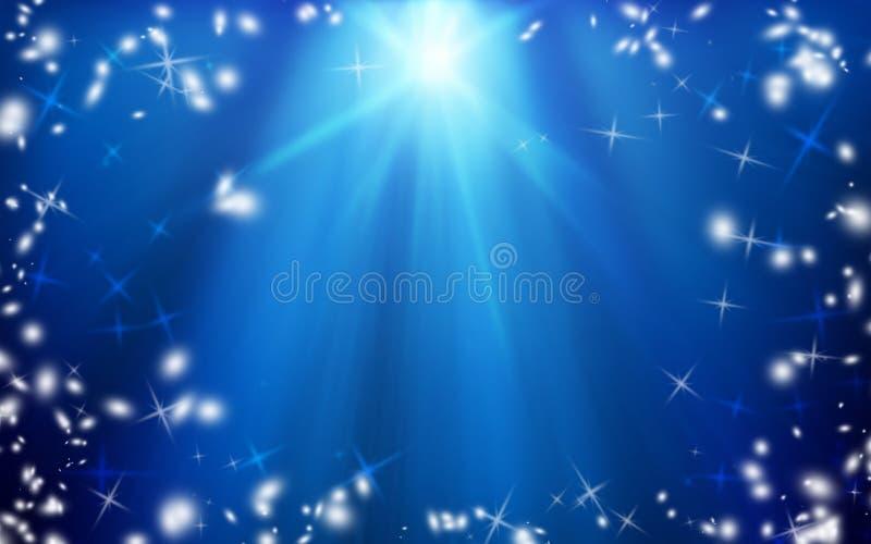 Étoile de Noël dans le ciel nocturne Fond Noël miracle image stock