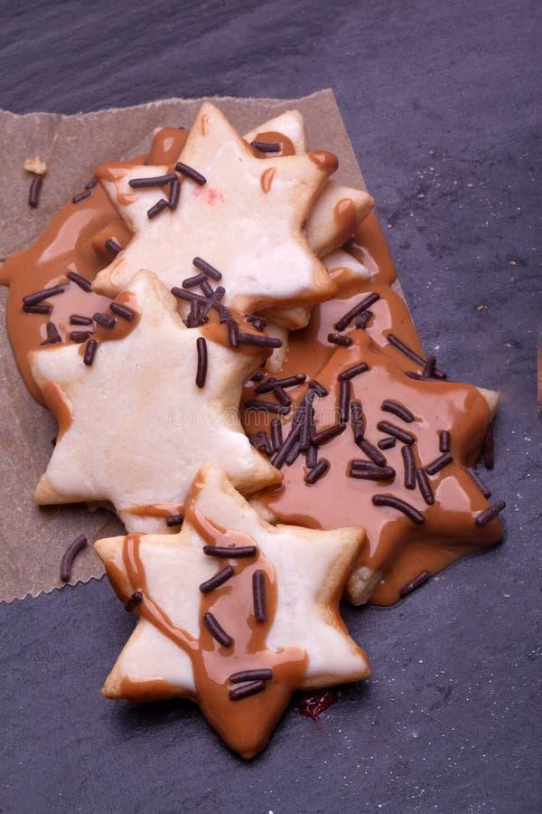 étoile de Noël de chocolat photo libre de droits