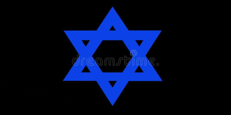 Étoile de noir bleu de fond de David Jewish illustration de vecteur