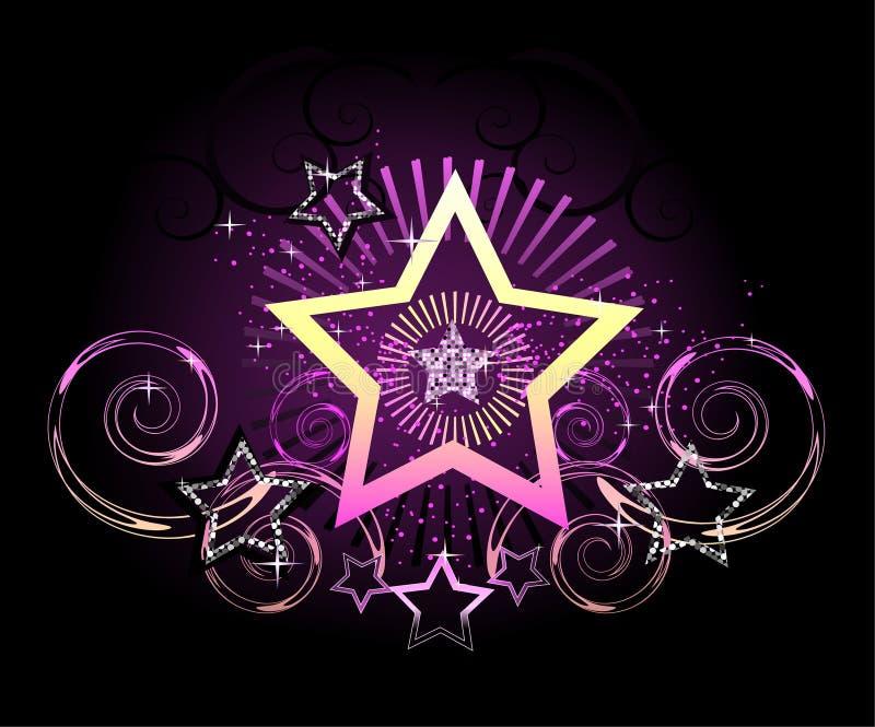 Étoile de pétillement illustration de vecteur