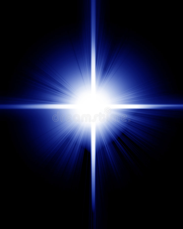 Étoile de pétillement lumineuse illustration de vecteur