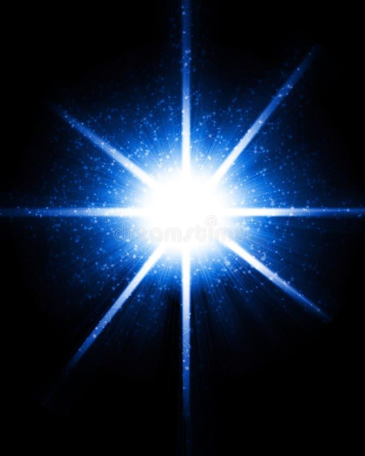 Étoile de pétillement lumineuse illustration stock