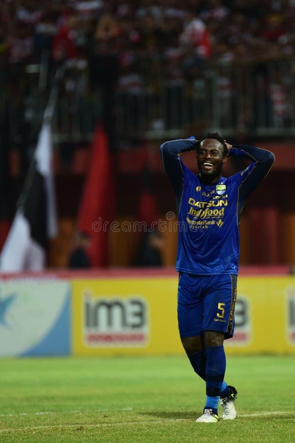 Étoile de Persib Bandung, Michael Essien photographie stock libre de droits