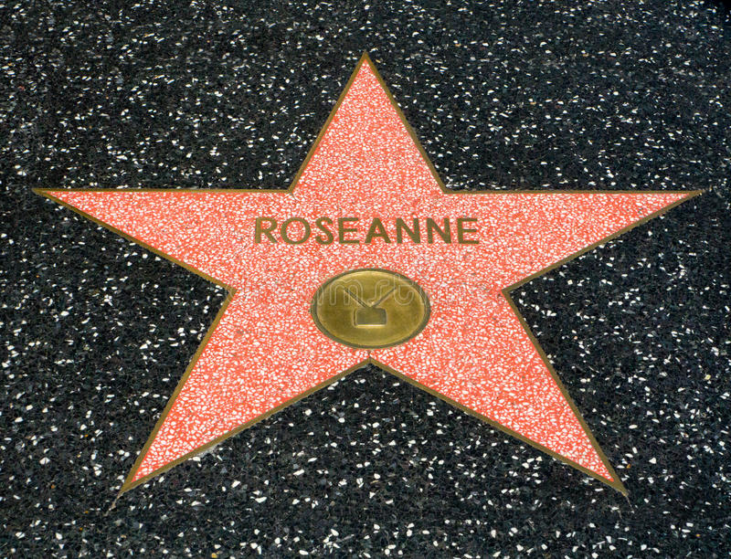 Étoile de Roseanne Barr sur la promenade de Hollwyood de la renommée image stock