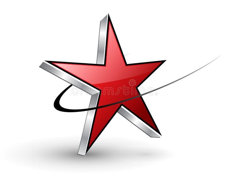Étoile de rouge de logo illustration de vecteur