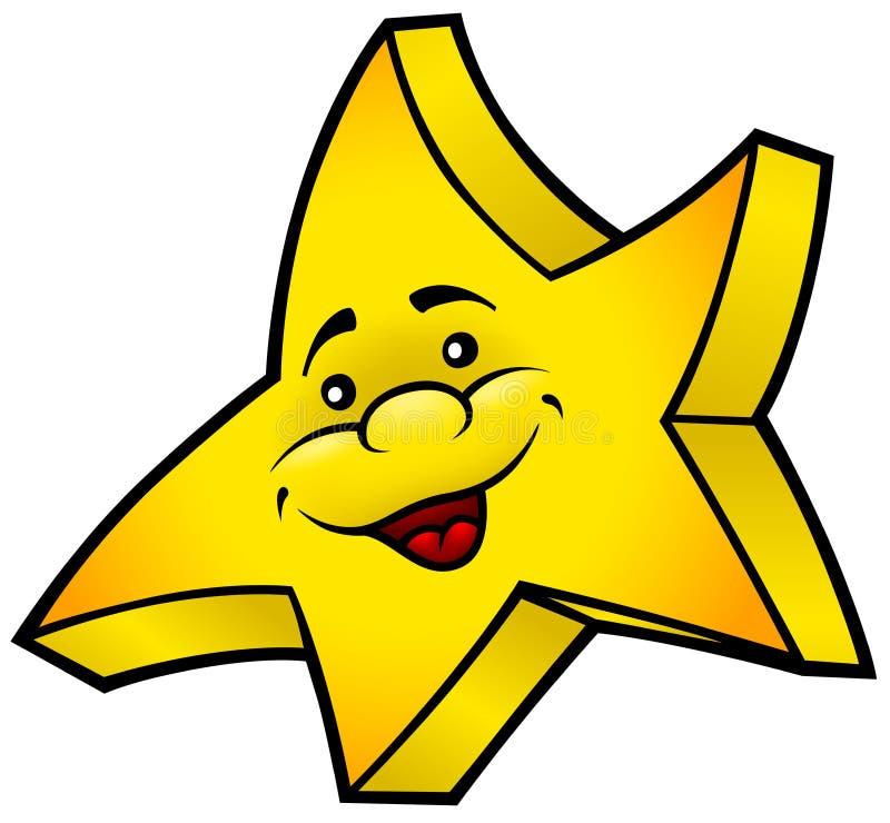 Étoile de sourire illustration libre de droits