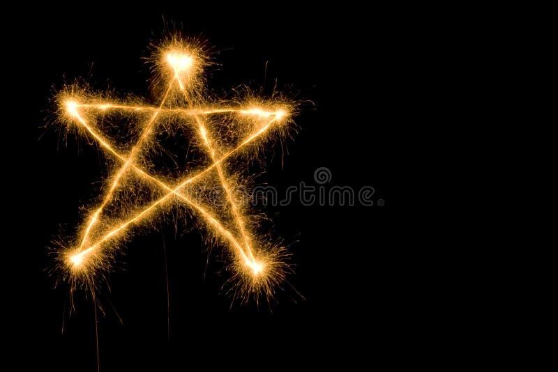 Étoile de Sparkler images libres de droits