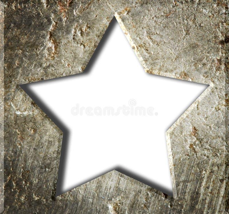 Étoile de cadre en métal. images stock