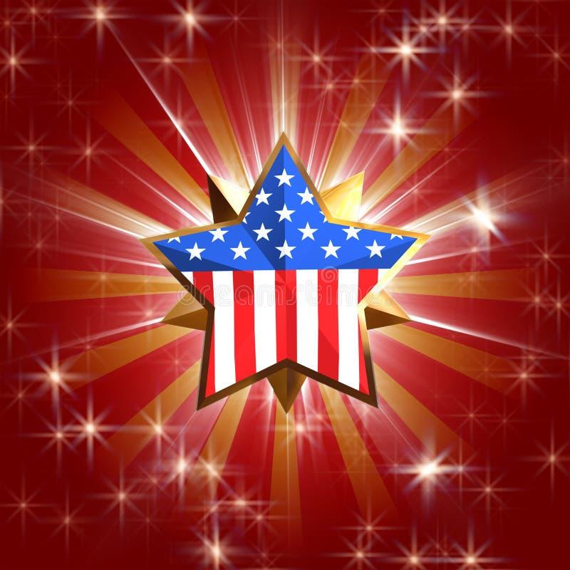 Étoile des Etats-Unis illustration libre de droits