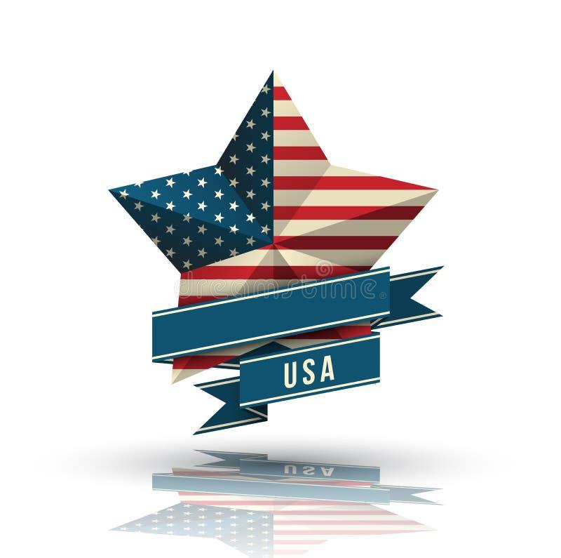 Étoile des Etats-Unis dans le drapeau national illustration stock