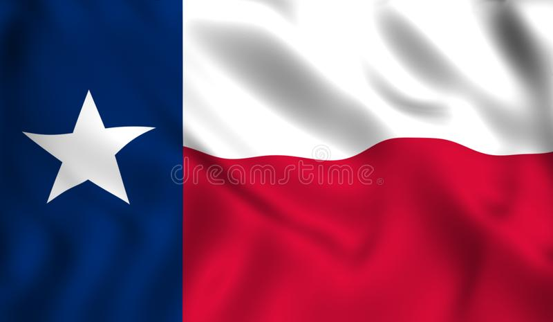 Étoile des USA de pays du pavillon du Texas illustration stock
