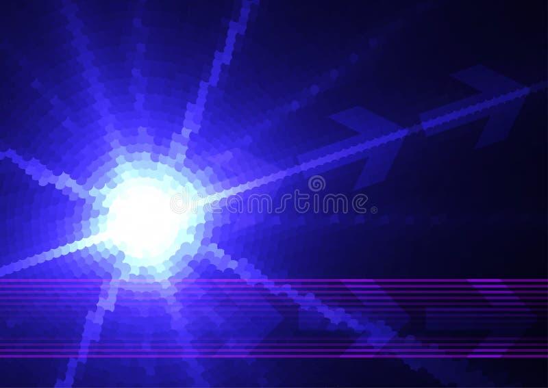 Étoile digitale bleue illustration de vecteur