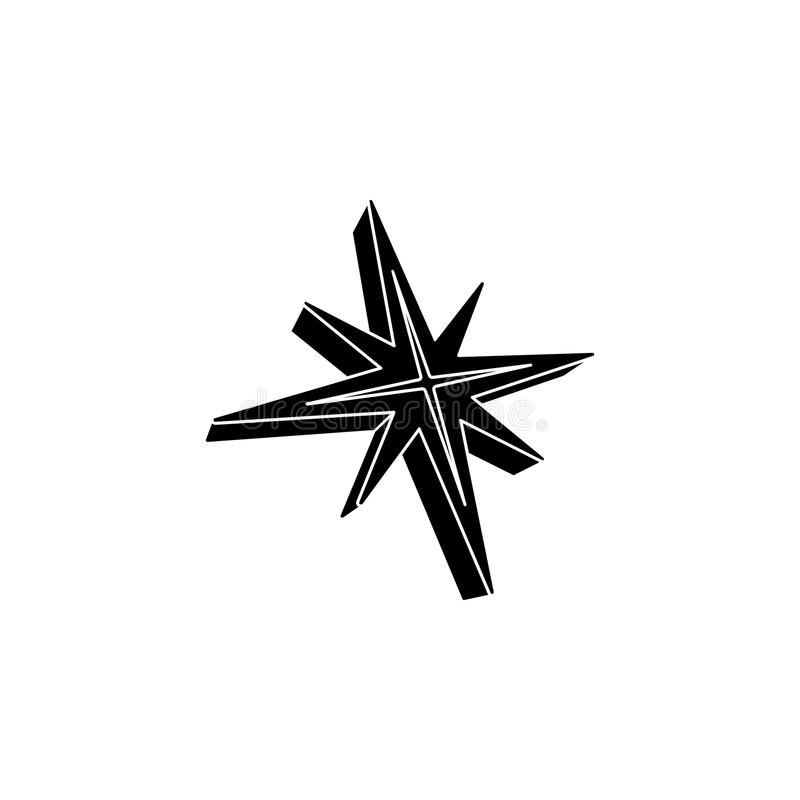 étoile du graphisme 3d Élément d'icône d'étoiles Conception graphique de qualité de la meilleure qualité Signes et icône de colle illustration de vecteur