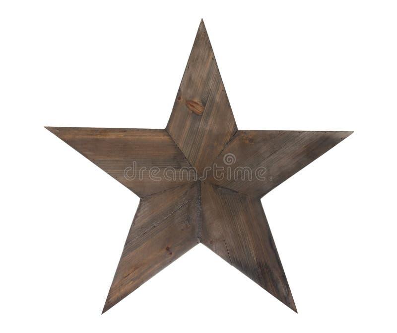 Étoile en bois avec le chemin de découpage photographie stock libre de droits