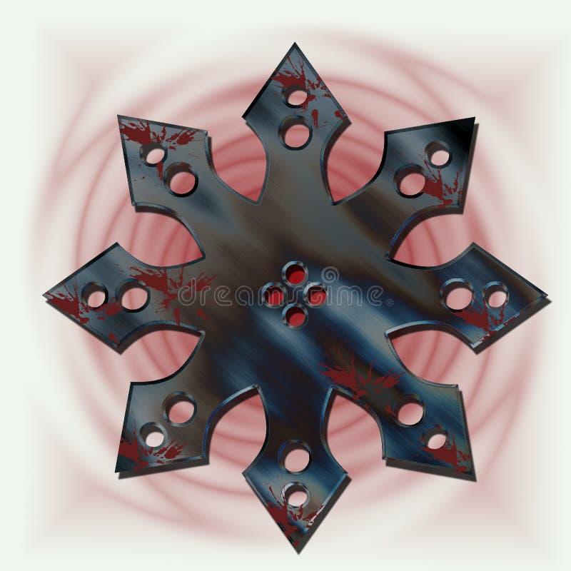 Étoile en métal illustration de vecteur