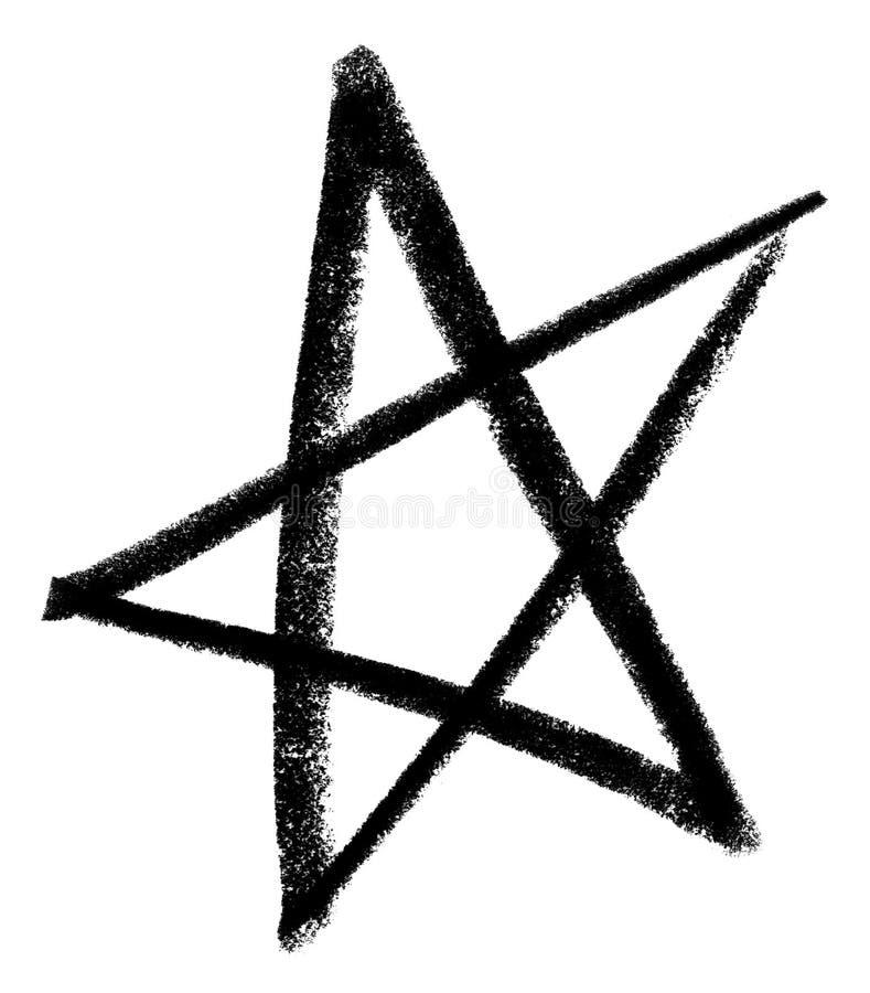 Étoile esquissée illustration libre de droits