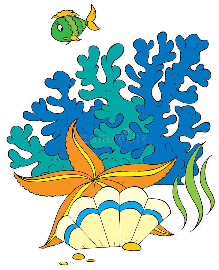Étoile et interpréteur de commandes interactif de mer illustration stock