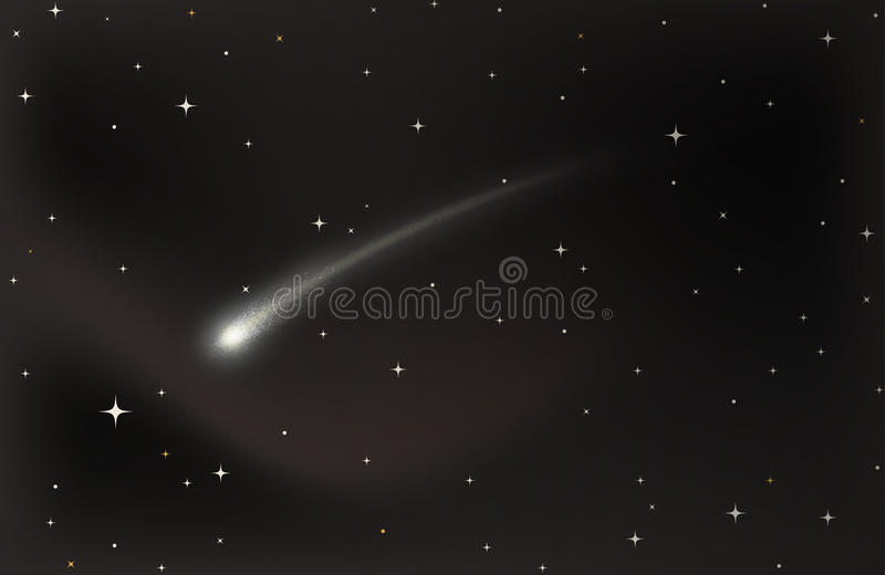 Étoile filante illustration de vecteur