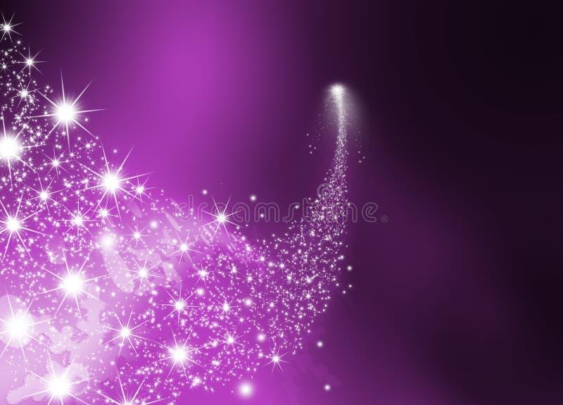 Étoile filante intelligente abstraite avec Violet Background illustration de vecteur