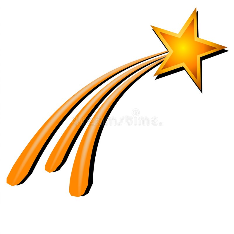 Étoile filante jaune d'or illustration libre de droits