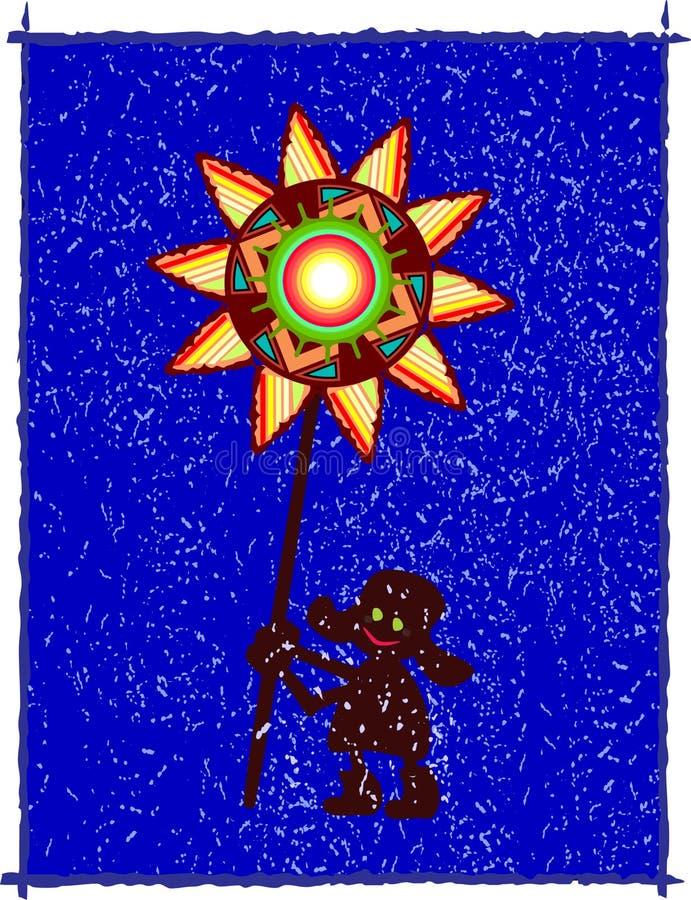 Étoile folklorique du nord illustration stock