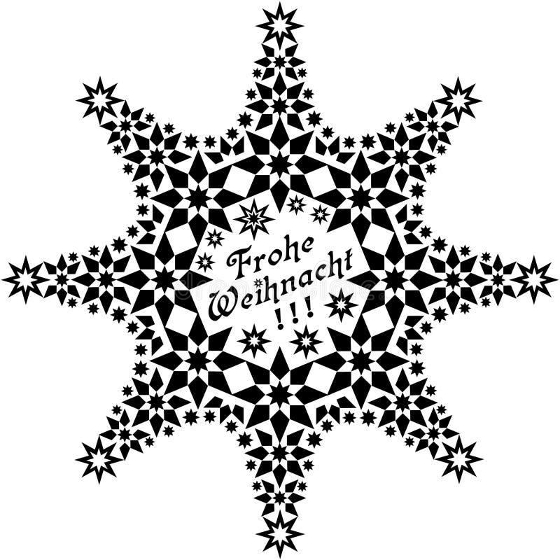 Étoile Frohe Weihnacht illustration libre de droits