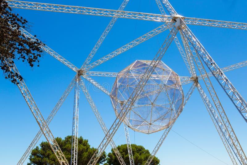 Étoile Installatation, colline de signal, Cape Town photographie stock