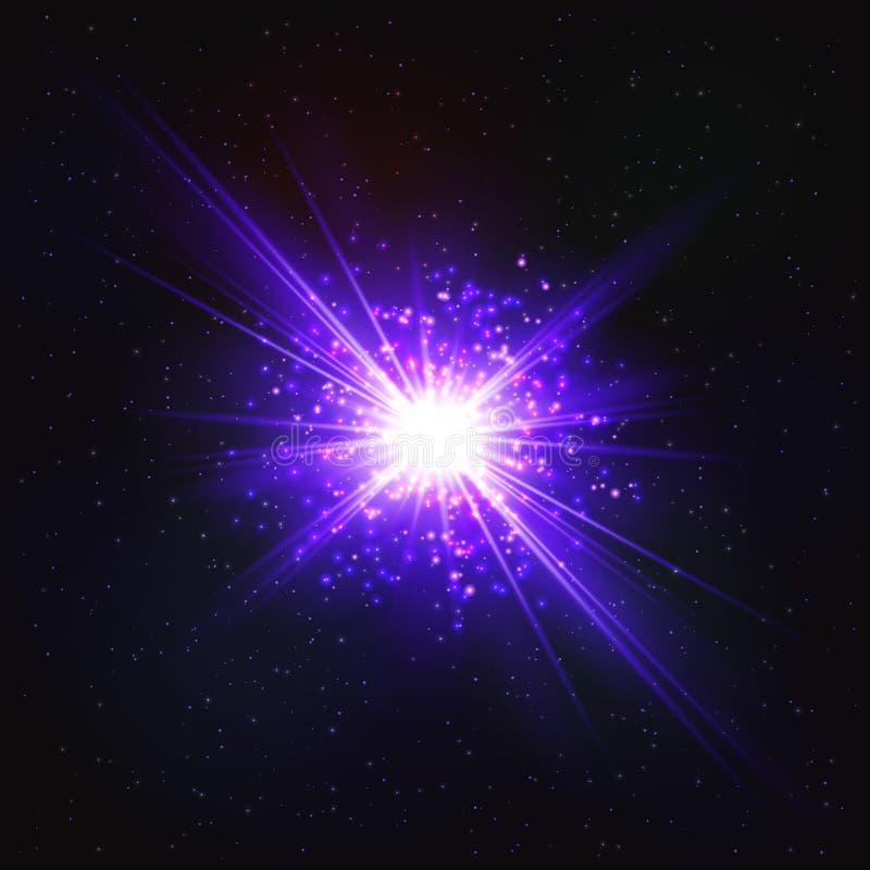 Étoile instantanée cosmique miroitante abstraite illustration libre de droits