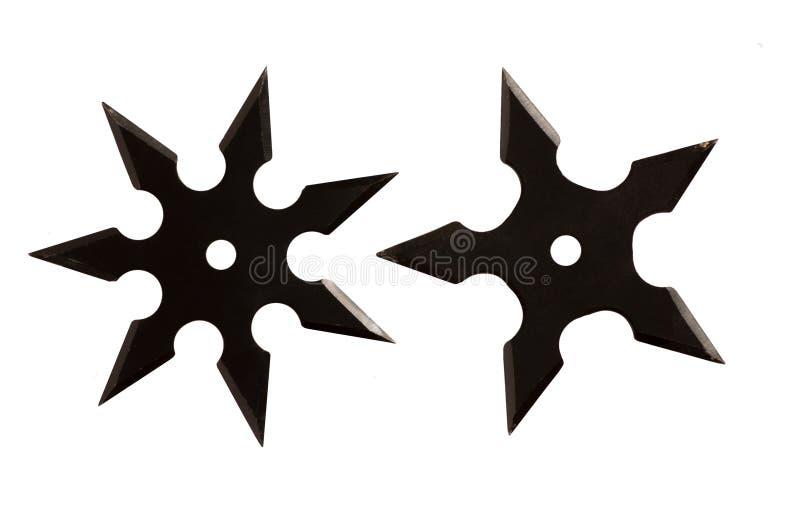 Étoile isolée de Ninja images stock