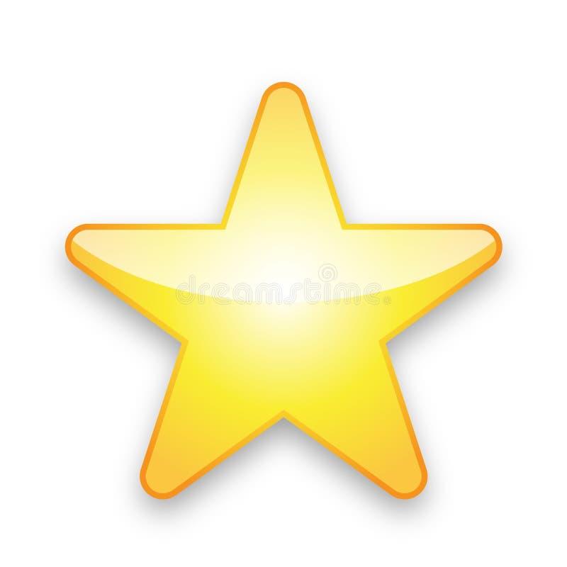 Étoile jaune illustration libre de droits