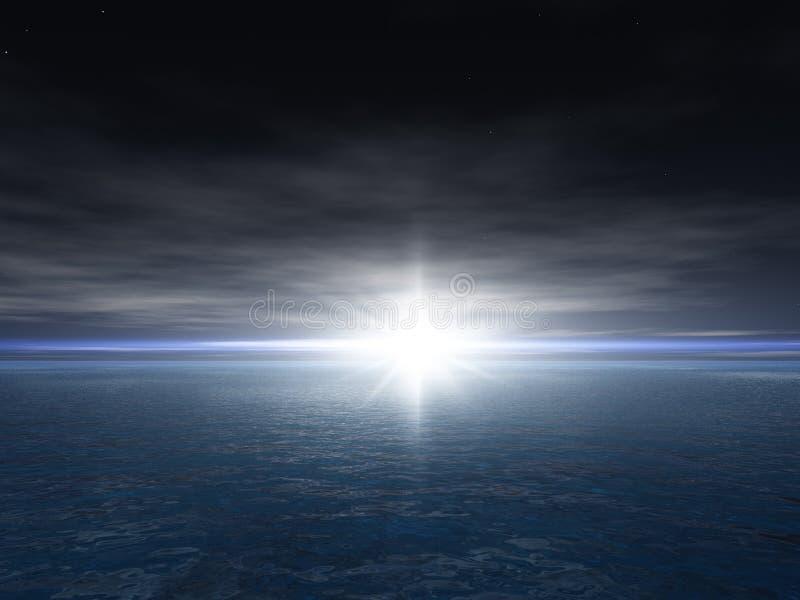 étoile lumineuse de fond illustration de vecteur