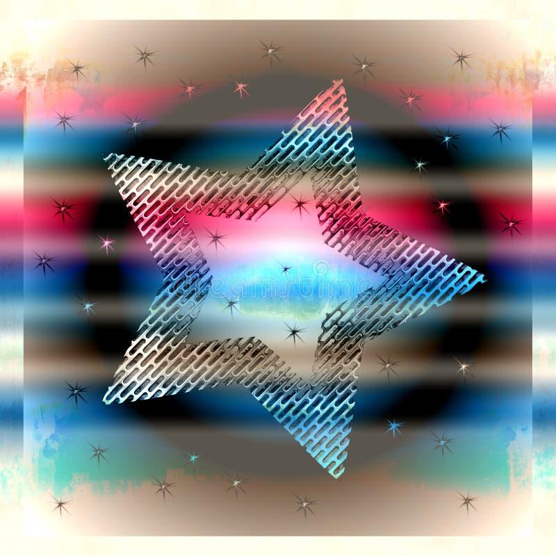 Étoile métallique argentée illustration libre de droits